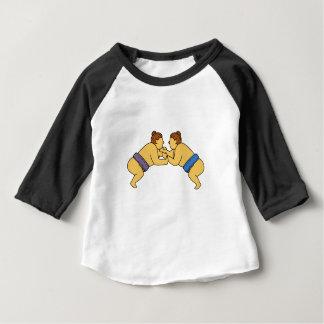 Rikishi Sumo Wrestlers Mono Line Baby T-Shirt