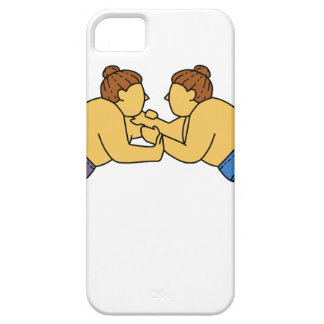 Rikishi Sumo Wrestlers Mono Line Case For The iPhone 5