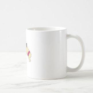 Rikishi Sumo Wrestlers Wrestling Side Mono Line Coffee Mug