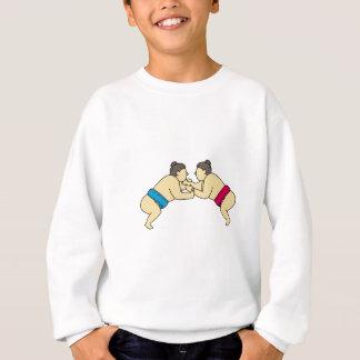 Rikishi Sumo Wrestlers Wrestling Side Mono Line Sweatshirt
