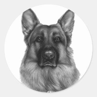 Rikko, German Shepherd Round Stickers
