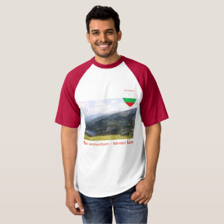 "Rila mountain - seven lakes T-shirt ""Love Bulgaria"