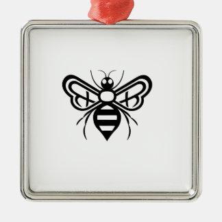 Riley Acres Bee Logo Metal Ornament