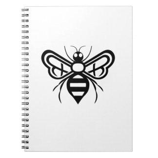 Riley Acres Bee Logo Spiral Notebook