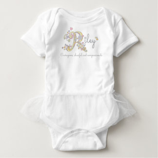 Riley girls name meaning R monogram baby apparel Baby Bodysuit