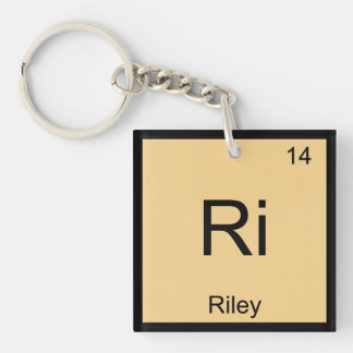Riley Name Chemistry Element Periodic Table Single-Sided Square Acrylic Keychain