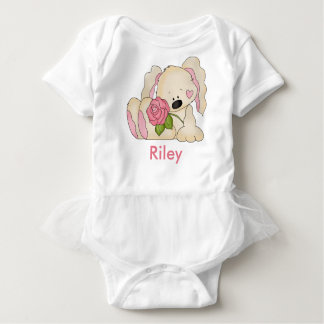 Riley's Personalized Bunny Baby Bodysuit