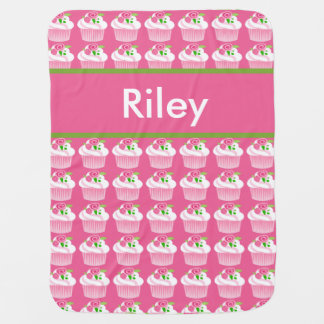 Riley's Personalized Cupcake Blanket