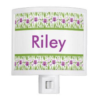 Riley's Personalized Iris  Night Light