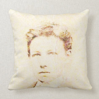 Rimbaud in 16 throw pillow