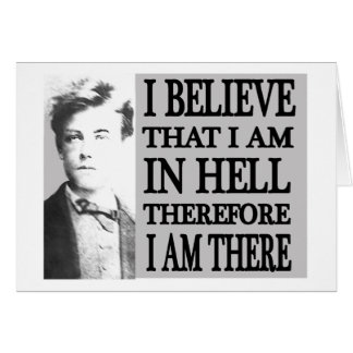 Rimbaud in Hell Note Card