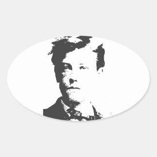 Rimbaud Oval Sticker