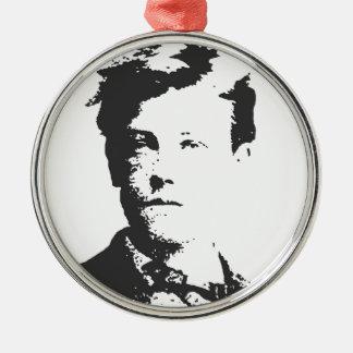 Rimbaud Silver-Colored Round Ornament
