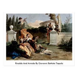 Rinaldo And Armida By Giovanni Battista Tiepolo Postcard