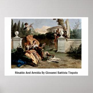 Rinaldo And Armida By Giovanni Battista Tiepolo Poster