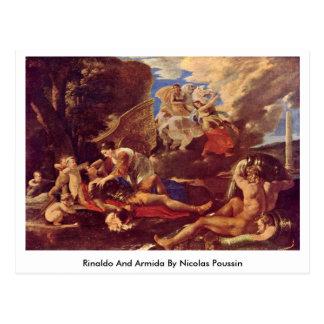 Rinaldo And Armida By Nicolas Poussin Postcard