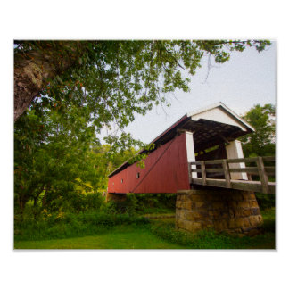 Rinard Covered Bridge, Ohio Poster