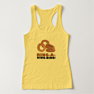 Ring-a-Ding-Ding Fried Onion Rings Junk Fast Food Tank Top