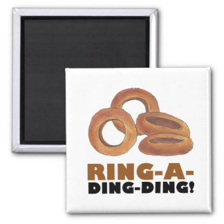 Ring-A-Ding-Ding Onion Ring Rings Junk Food Foodie Magnet
