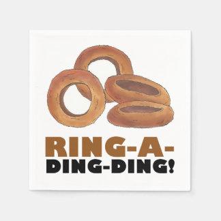 Ring-a-Ding-Ding Wedding Engagement Bachelorette Disposable Napkins