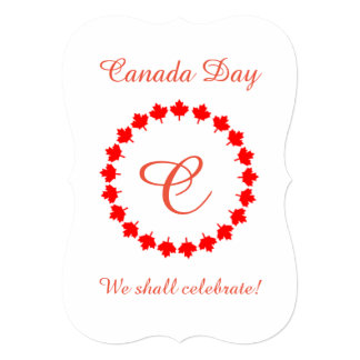 Ring Around Canada Day Party Invitation