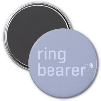 Ring Bearer 3 Inch Round Magnet