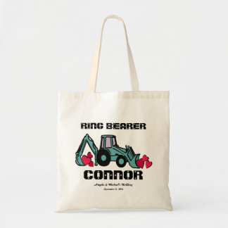 Ring Bearer Back Hoe Tote Bag