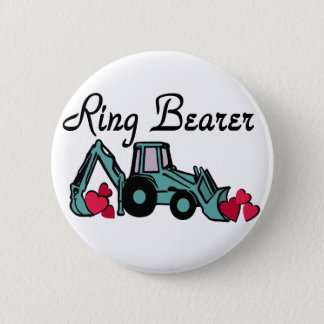 Ring Bearer Backhoe 2 Inch Round Button
