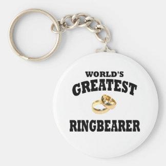 Ring bearer basic round button keychain