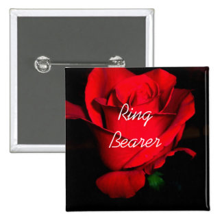 Ring Bearer 2 Inch Square Button