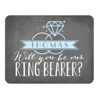 "Ring Bearer Card | Groomsman 4.25"" X 5.5"" Invitation Card"
