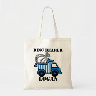 Ring Bearer Dump Truck Blue