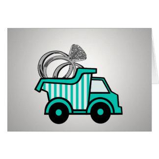 Ring Bearer Dump Truck Greeting Cards