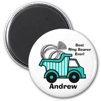 Ring Bearer Dump Truck Fridge Magnets