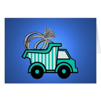Ring Bearer Dump Truck Note Card