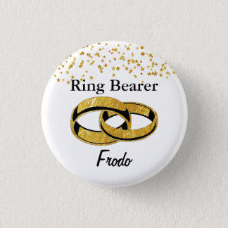 Ring Bearer Flair 1 Inch Round Button