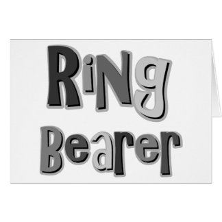 Ring Bearer Gray Greeting Cards