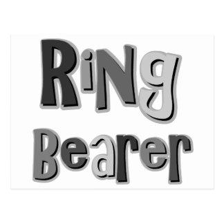 Ring Bearer Gray Postcards