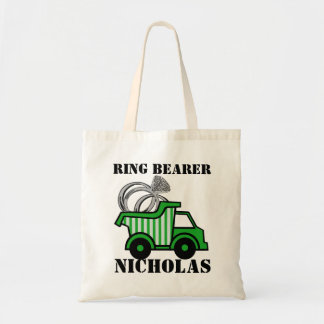 Ring Bearer Green Dump Truck Budget Tote Bag