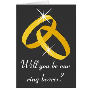 Ring bearer greeting card