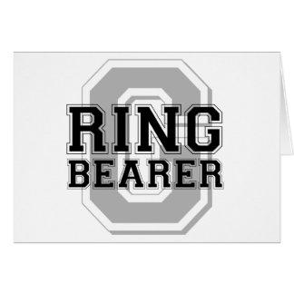 Ring Bearer Groom Cheer Greeting Card