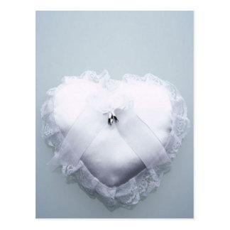 Ring Bearer Heart Pillow Postcard