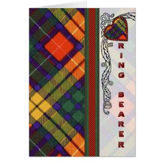Ring Bearer Invitation - Buchanan Scottish Tartan Greeting Card