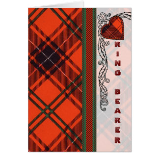 Ring Bearer Invitation - Wemyss Scottish Tartan Card