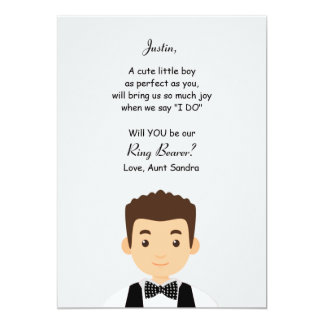 "Ring Bearer Request Card 5"" X 7"" Invitation Card"