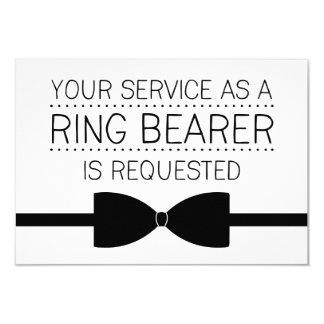 "Ring Bearer Request | Groomsmen 3.5"" X 5"" Invitation Card"