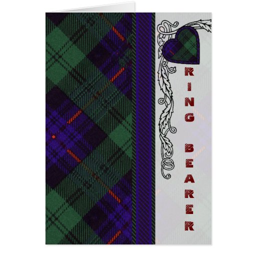 Ring Bearer -  Scottish Tartan Armstrong - Blank Card