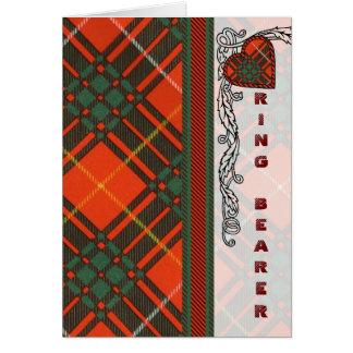 Ring Bearer - Scottish Tartan Bruce - Blank Greeting Card