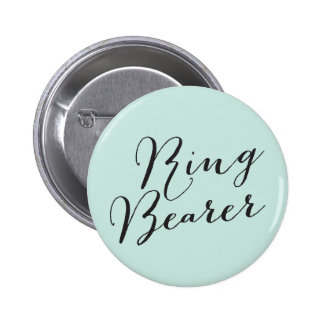 Ring Bearer Script Wedding Bridal Party Button