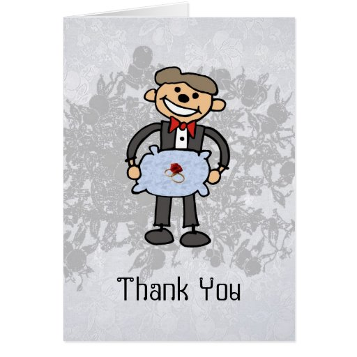 Ring Bearer Thank you  Wedding Attendant Greeting Card